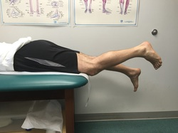 Dr. Gorczynski demonstrates knee flexion contracture