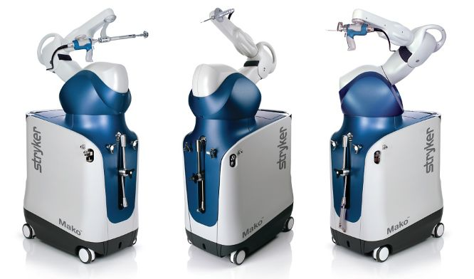 Stryker Mako robotic arm will be used for total knee and total hip replacement